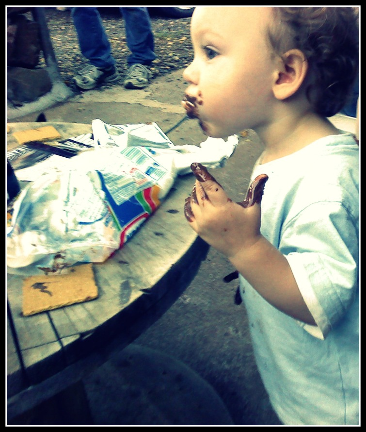 Bubby loves his smores